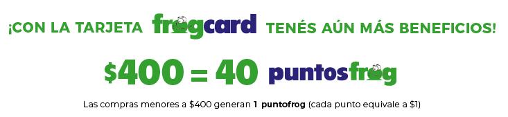 Puntos FrogCard Beneficios